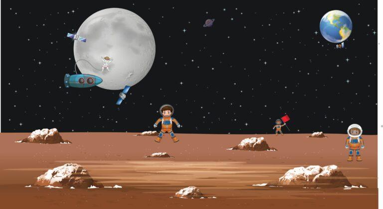Für Mondreisen üben in Deutschland