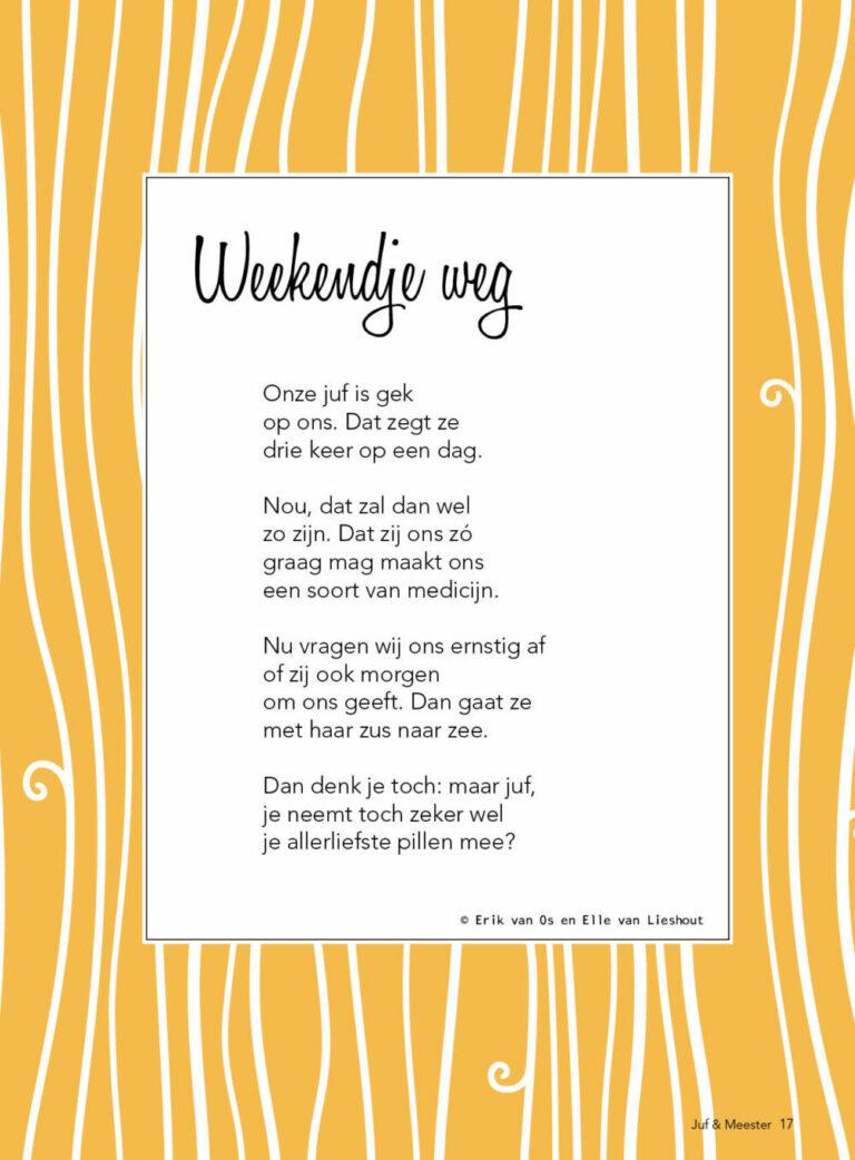 Gedicht: Weekendje weg