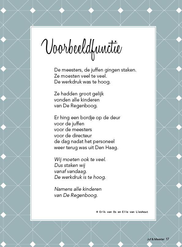 gedicht voorbeeldfunctie Juf & Meester