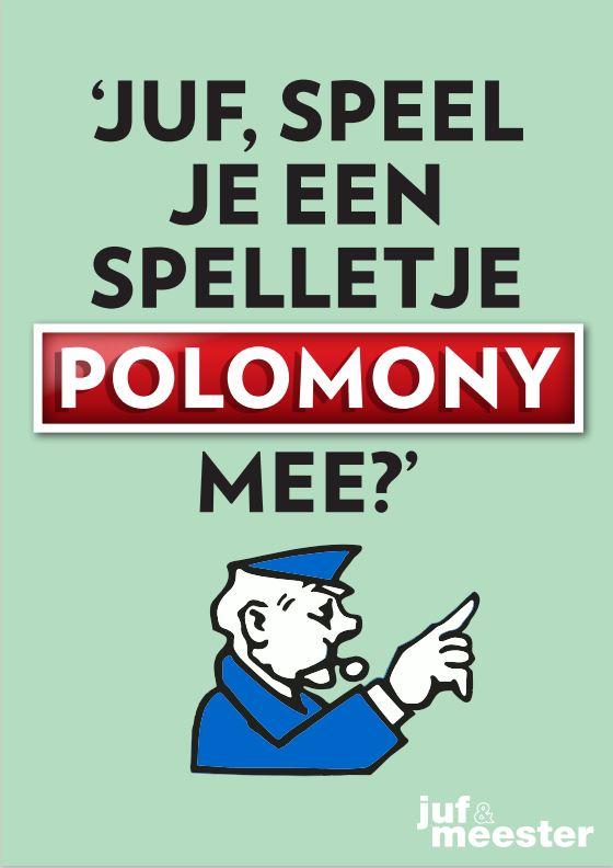 Juf Meester Malmberg kinderpraatje polomony