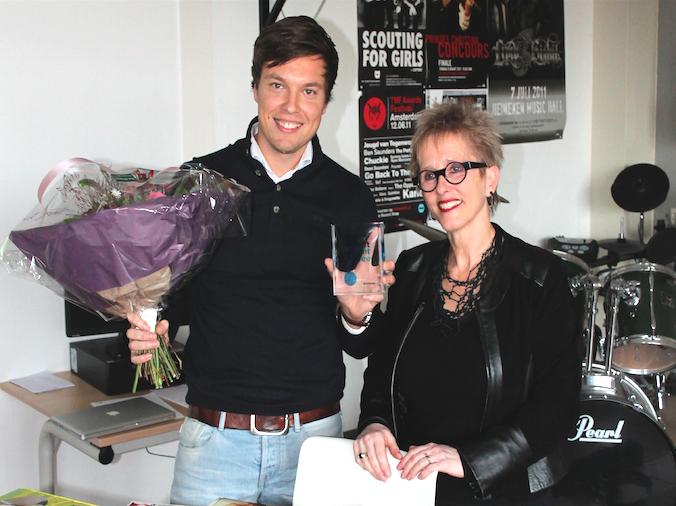 Docent Nederlands Matijs Lips wint Talent Docent Trofee 2015