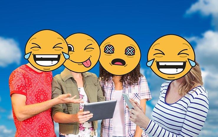 Wordt VED-geletterd met behulp van de Emoji-leesplank