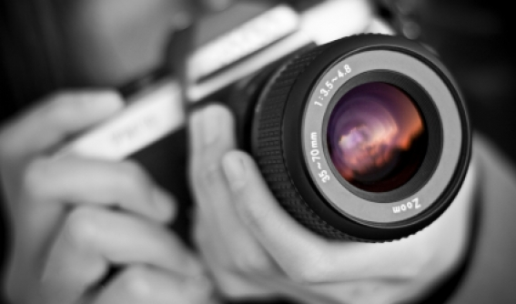 Op school leren om te fotograferen