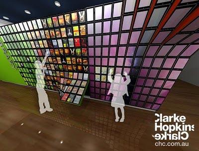 Interactieve muur van iPads