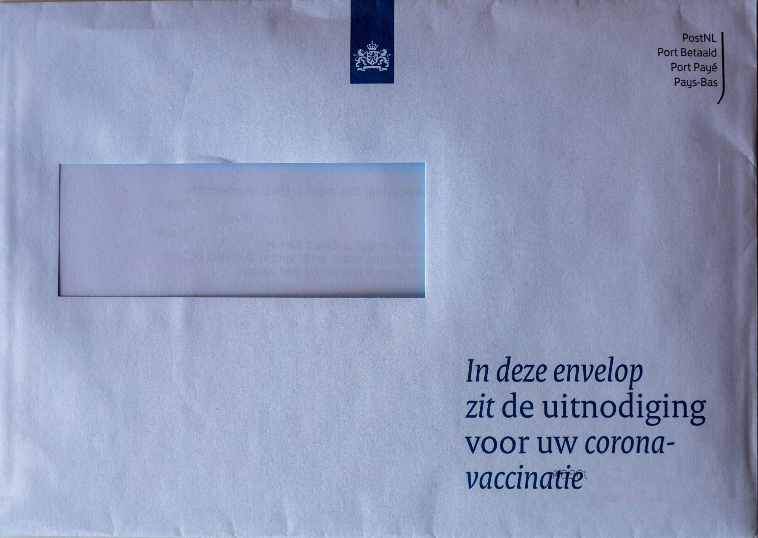 Brief uitnodiging vaccinatie corona Nederland Malmberg actueel Talent
